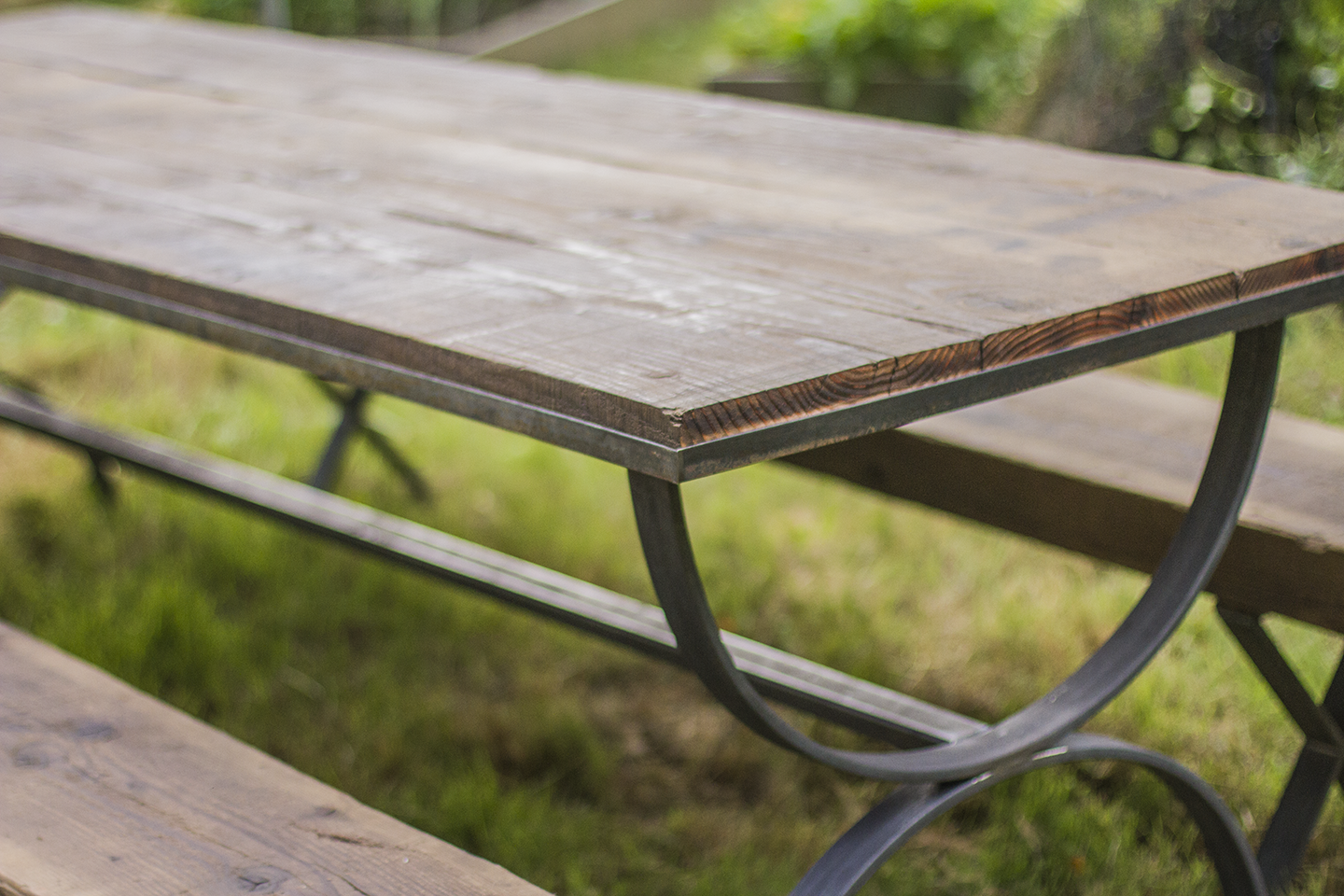 Rustic Industrial Picnic Table | Fermata Woodworks